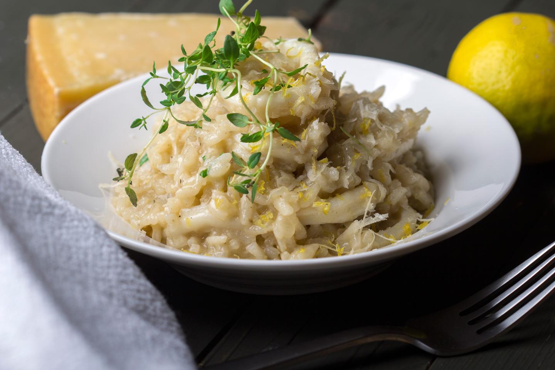 Lemon Risotto with Calamari