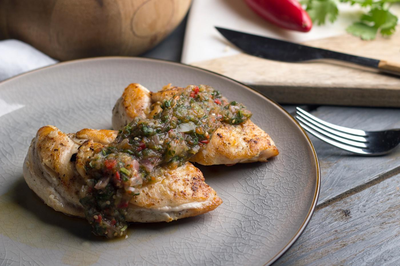 Chicken Breast with Tomatillo Salsa Verde