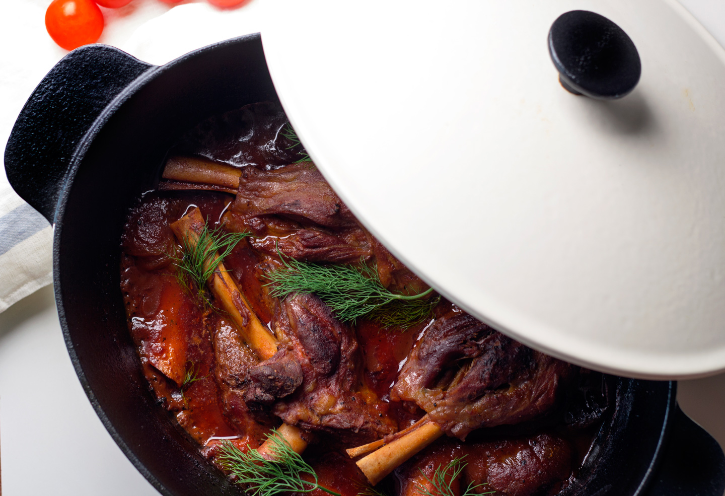 Lamb Shanks Braised in Tomato Sauce
