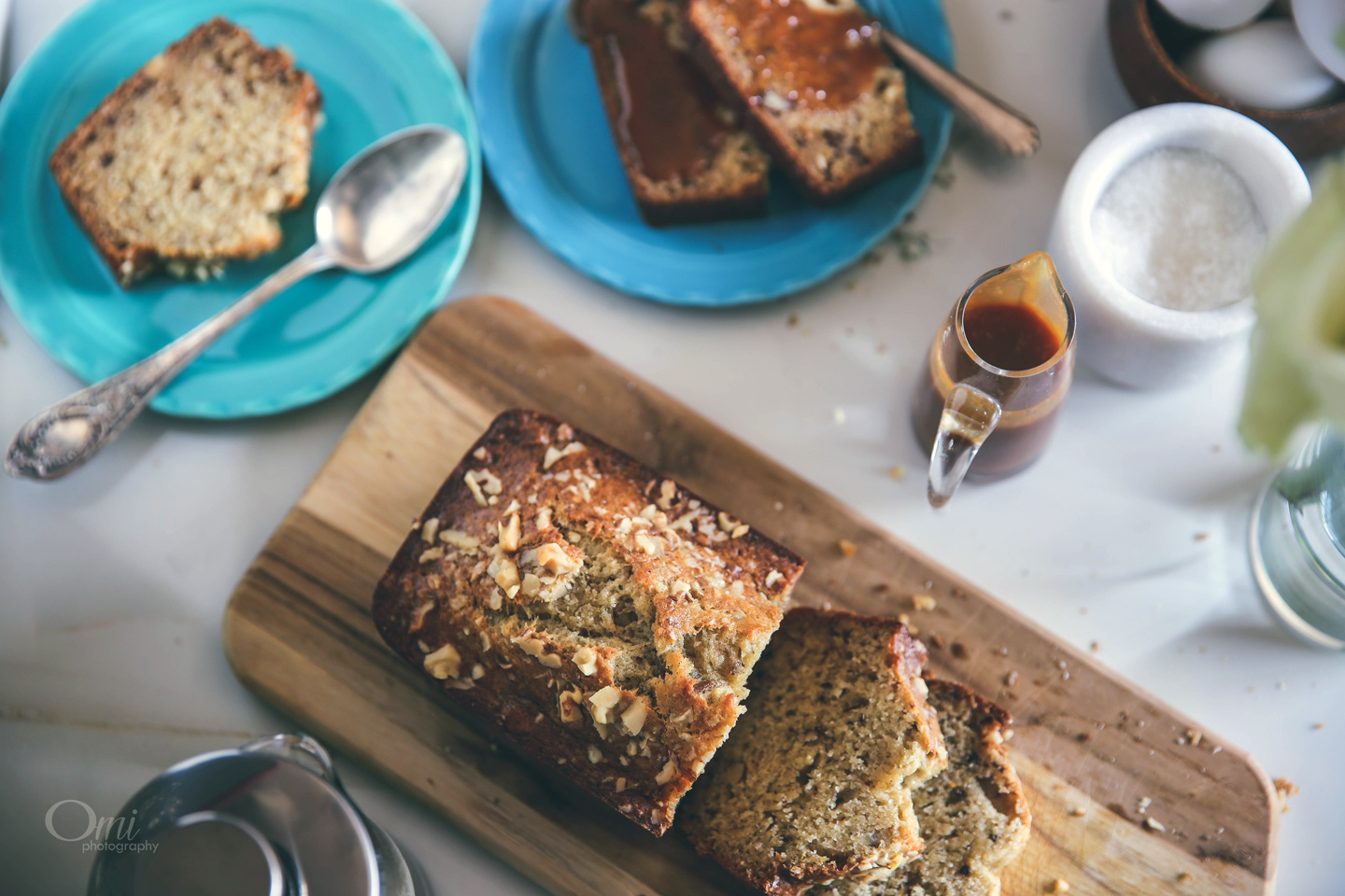 Walnut Banana Bread with Cardamom